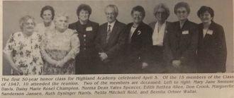 Class of 1947, Highland Academy