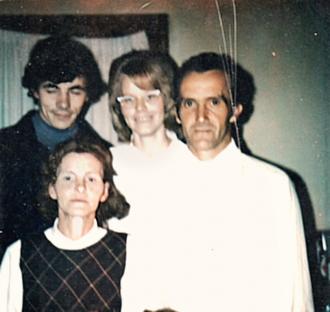 Elmer Lee Wolfenbarger front right Marta Adkins Wolfenbarger on Front Left