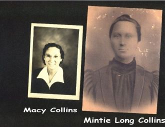 Mother and daughter, Mintie and Macy Collins