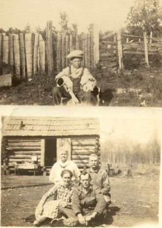 Pollock log cabin