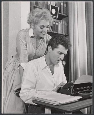 Judy Holliday and Sydney Chaplin