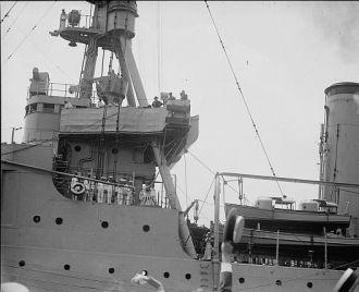 Lindbergh arriving at Navy Yd., 6/11/27