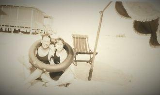 Beach Honeymoon of Donnell (Owen) and John Huser, Sr.