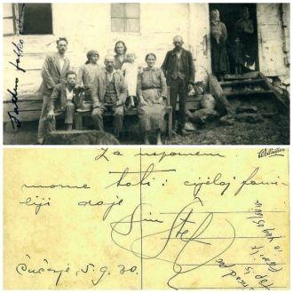 Topolovec family postcard