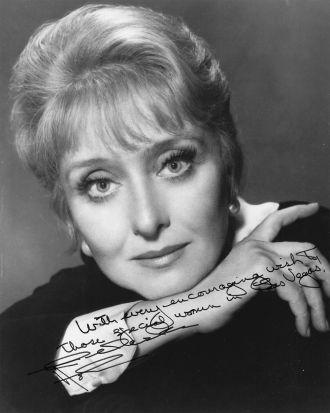Celeste Holm and autograph
