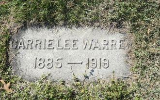 Carrie Lee Blundon Warren gravesite