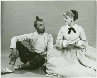 Michael Kermoyan as the King in THE KING AND I.