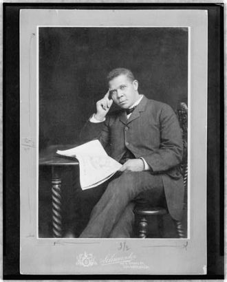 [Booker T. Washington, three-quarter length portrait,...