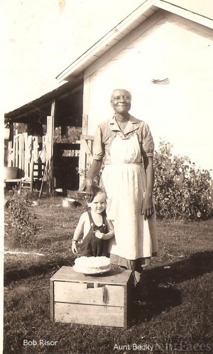 Bob Risor & Aunt Becky, 1940