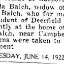 Rhoda Balch Obituary