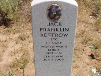 Father's grave in Idaho.