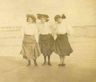 Three Beauties on the Beach