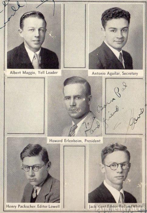 Howard Erlenheim, Lowell High 1933 School Movers & Shakers