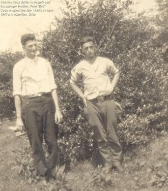 Charles and his brother, Fred Cook