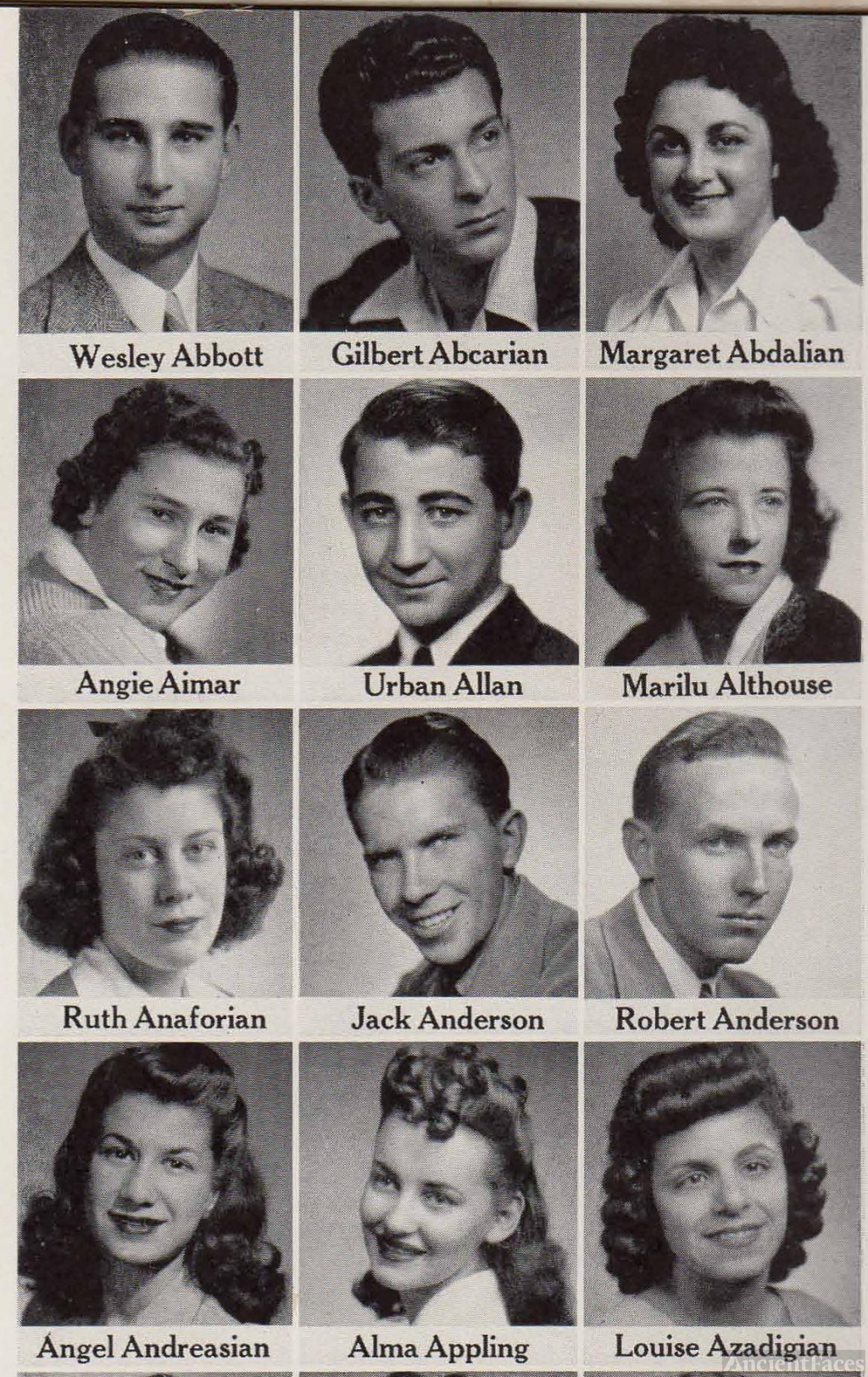 Gilbert Abearian, 1942 Seniors from Fresno
