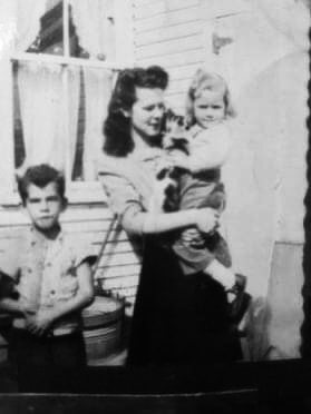 Marion (Stoddert) Rivers, daughter Jo-Ann and my dad, Dorwin, who was Marion's youngest sibling, 17 years her junior.