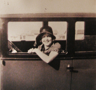 1920s Woman and Her Car