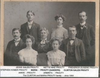 Prouty-Sanders family  ca. 1900