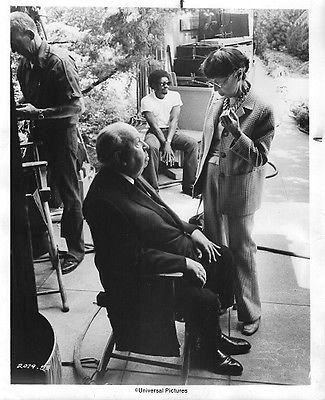 Edith Head and Alfred Hitchcock