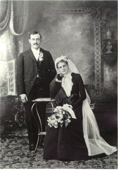 Albert Henry & Emma (Fritz) Mihm's Wedding