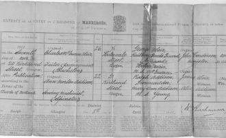 Charles Weir & Ann Addison Marriage Certificate