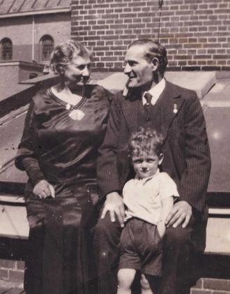 Salomon with his grandparents