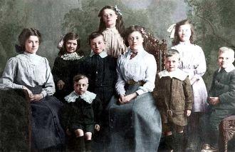 Mary Elizabeth Alexander & family