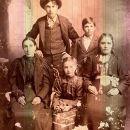 Lucinda Wells nee Allison and children