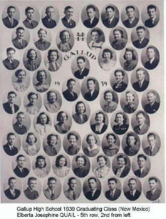 1939 Graduating Class of Gallup High School