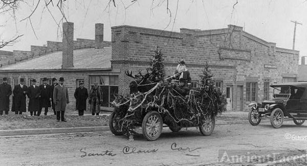 Gilbert photo, Christmas 1913 Iowa