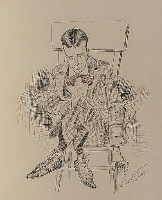 William Randolph Hearst, satirical drawing