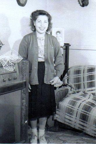 Virginia Espinoza at home