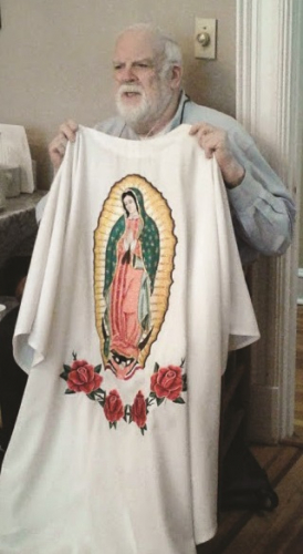 Christmas and Our Lady of Guadalupe robe.