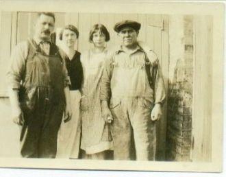Frank, Bruno, Anna (Anderson) & Anna L. Heidke, 1930