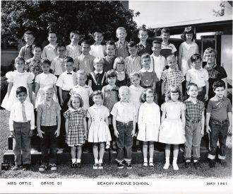 Beachy Avenue School CA, 1961