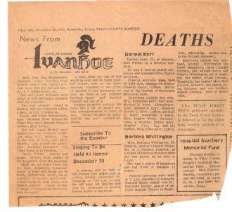 Barbara Aline (Grimes) Whittington obituary