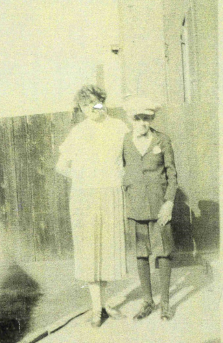 Mary L. (Joyce) Kleaver with her son John Joyce Kleaver, Jr.