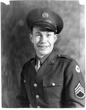 Andy Daley in the Army WWII