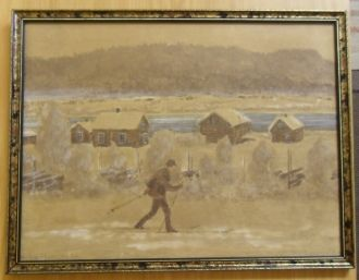 Kristian Skolmen painting