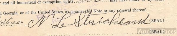Noah L. Strickland Signature