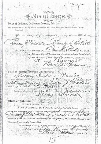 Andrew Jackson Middleton Civil War Records 2