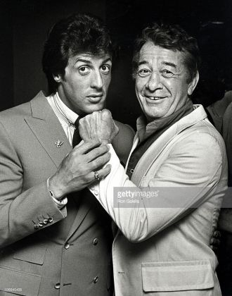 Rocky Graziano and Sylvester Stallone
