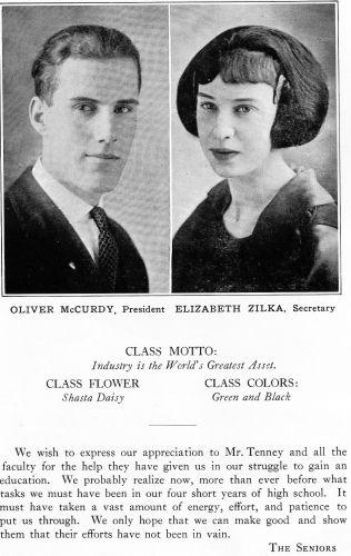 Oliver McCurdy & Elizabeth Zilka 1922 California