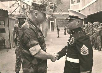 Wayne A. Ekblad & the Commandant of the Marine Corps