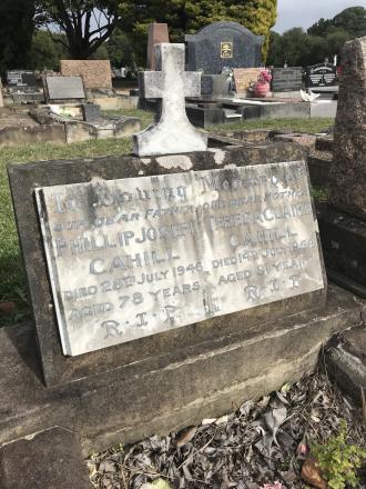 Grave of Teresa Claire Maloney and Phillip Joseph Cahill
