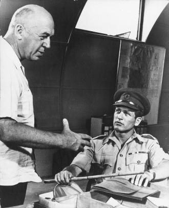 Otto Preminger and Paul Newman