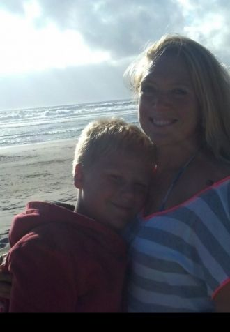 Cassie banister and son Kolton