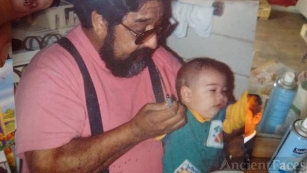 Albert and son Jojo Mendez at family home in Kerman ca