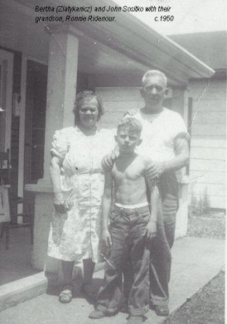 Bertha and John Sositko and grandson, Ronnie