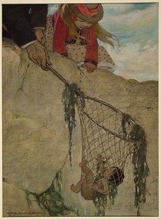 He felt the net very heavy